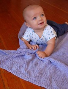 Reversible Diamond Baby Blanket